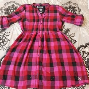 Victoria's Secret Pink Plaid Shirt Dress